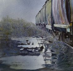 John T Salminen – Siding – watercolor