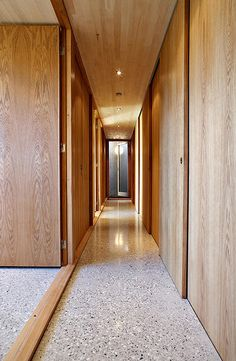 Knut Hjeltnes Arkitekter | w16_eg Hotel Corridor, Corridor Design, Interior Architecture, Interior Design, Common Area, Apartment Interior, Garage Doors, Stairs, Flooring