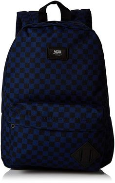 71a207858e Vans New Skool Backpack Junior VN0002TLCS0 One Size Kids Blue Checkerboard  School Backbag Louis Vuitton Damier