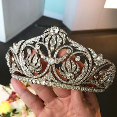"581 Likes, 22 Comments - Frank Everett (@frankbeverett) on Instagram: ""To brighten this dull day in #NYC ... A mid-19th Century diamond tiara, selling @sothebys in…"""