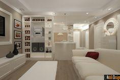 Design interior living apartament New Clasic . Alcove, My House, Interior Design, Studio, Home Decor, Image, Interiors, Modern, Nest Design