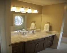 Image result for chair rail in bathroom pictures