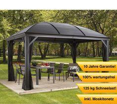 Amazon.de: Aluminium Pavillon Überdachung Gazebo Moreno // 298x423 cm (BxH) // Sommer-Pavillon und Gartenlaube mit Hard-Top Dach von Sojag