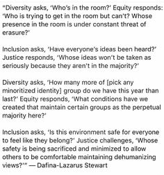 Diversity, Equity, Inclusion, and Justice Verbatim, Intersectional Feminism, The More You Know, Faith In Humanity, Social Issues, Oppression, Social Justice, Thought Provoking, Equality