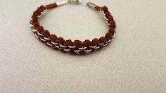 IDEA 6mm leather jump ring bracelet