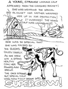 Guida's Supercow Coloring Pages (3)