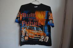 Vintage 90s NASCAR Tony Stewart Racing Unisex T-Shirt by RadOTR on Etsy