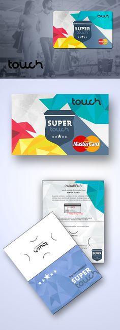 Criação da Marca SuperTouch e personalização do cartão com bandeira MasterCard para o Cliente Touch Card