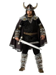 Elite Mens Viking Warrior Costume | Cheap Plus Size International Costumes for Adults