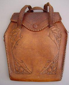leather tooled handbag