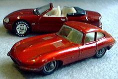 1960's XKE with 1990's XK8 Matchbox cars