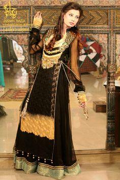 Jannat Nazir Bridal Wear Wedding collection for Girls  2013-14-black-IndianRamp.com 8c254fb741b