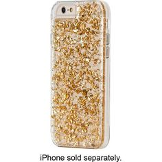 Case-Mate - Karat Case for Apple® iPhone® 6 - Clear/Gold - Larger Front
