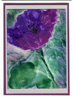 Encaustic art painting on a greeting card can be by twocooltexans, $8.50