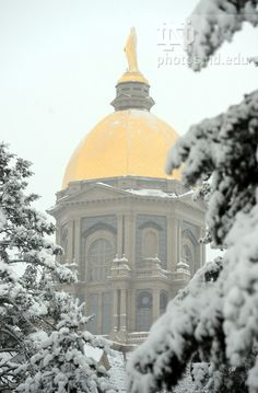 Main Building in snow