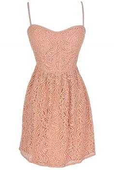 Like The Wind Dress in Blush  www.lilyboutique.com
