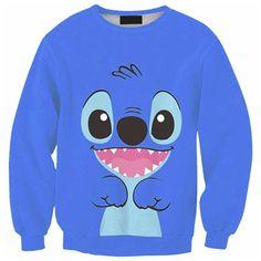 Cartoon Stitch 3D Printed Graphic Cool Sport Sweatshirt Shirt Men Women S M L XL   Clothing, Shoes & Accessories, Men's Clothing, Sweats & Hoodies   eBay!
