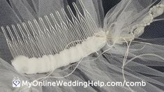 Use this easy, how to make a wedding veil tutorial to create your own bridal veil. Shows how to attach the comb, too. Simple Wedding Veil, Wedding Veils, Bridal Veils, Bridal Tiara, Wedding Hair, Wedding Bouquets, Wedding Jewelry, Wedding Reception, Wedding Stuff