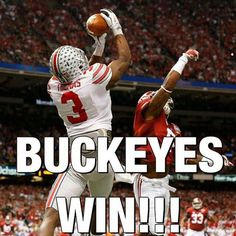 The Ohio State Buckeyes won the first semifinalist playoff game of the first collage playoff season against Alabama Crimson Tide 42 to 35 in the Sugar Bowl. January the 2015 Buckeyes Football, College Football Teams, Ohio State Football, Ohio State Buckeyes, Football Spirit, Football Stuff, Sports Teams, Football Season, Ohio State Vs Michigan