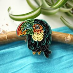 Cute Multicolor Toucan Brooch Pin, Polymer Clay Toucan Jewelry, Tropical Bird Pin, Animal Jewelry, Tropical Jewelry by Liskaflower on Etsy Quilled Creations, Polymer Clay Creations, Handmade Polymer Clay, Clay Fox, Clay Birds, Polymer Clay Charms, Polymer Clay Jewelry, Clay Projects, Clay Crafts