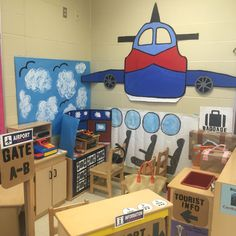 My pretend and learn airport theme!                                                                                                                                                                                 More