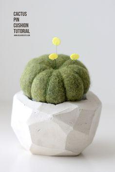 Geometric Cactus Pin Cushion TUTORIAL