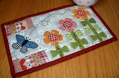 Growing Flowers Mug Rug Pattern | This one is for me - count… | Flickr