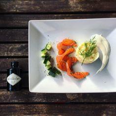 Im Hendrick's Gin gebeizter Lachs  Graved Salmon in Hendrick's Gin  Rezept auf www.düsentriebskitchen.ch