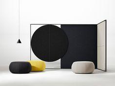 Lievore Altherr Molina for Arper - Parentesit offers comfort for Partition Screen, Stoff Design, Interior Decorating, Interior Design, Modern Interior, Acoustic Panels, Furniture Makeover, Interior Architecture, Furniture Design