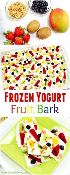 The Most Amazing Frozen Yogurt Bark Recipe, Frozen Yogurt Fruit Bark with Granola, Perfect Breakfast recipe, Healthy recipe, Delicious Food for Kids. This yummy frozen yogurt bark with fresh berries… Vegetarian Meals For Kids, Healthy Snacks For Kids, Kids Meals, Vegetarian Recipes, Healthy Kids Breakfast, Breakfast Ideas For Kids, Yogurt Breakfast, Breakfast Snacks, Healthy Fruit Recipes