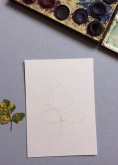 Leaf watercolor how-to