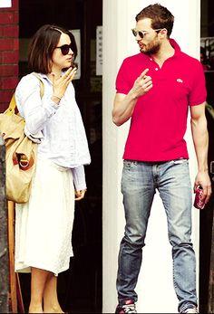 j-amiedornan: April 17th – Jamie Dornan and Amelia Warner in… | Jamie Dornan News