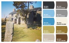 Sophie B. used ChipIt! by Sherwin-Williams to capture local color. Her inspiration was the Burrator House in Dartmoor National Park.