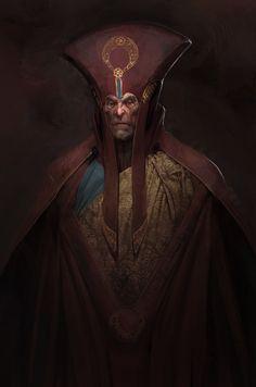 Bishop Thrall and his unholy secret., Jeff McAteer on ArtStation at https://www.artstation.com/artwork/ZnKl8