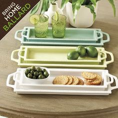 Southern Living Rectangular Trays - Set of 2