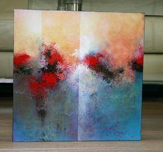 40 x 40 cm Acryl Abstract Art Michaela Jellinek