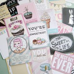 """""""The Sweet Life"""" by Everyday is a Holiday for Melissa Frances journaling cards. Perfect for Project Life!"""