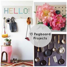 Cute pegboard organizing ideas!