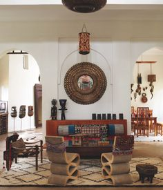 The home of Maryam Montague in Marrakesh. Featured in the April issue of Elle Decor magazine