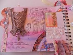 mixed media sketchbook page by Beryl Taylor