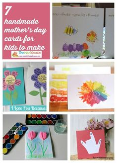 7 handmade Mothers Day cards that kids can  made