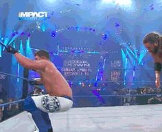 Cowboy ninja #wrestling #tna #impact #james #storm #aj #styles #gif