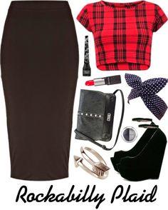 Crafty Lady Abby: OUTFIT: Rockabilly Plaid