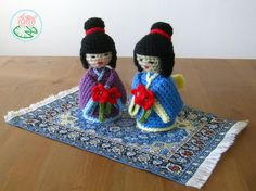 Amigurumis Muñecas Japonesas : Crochet kokeshi doll made with organic cotton yarn organic cotton