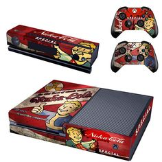 Now available at our store!  http://www.hellodefiance.com/products/nuka-cola-skin-xbox-one-protector?utm_campaign=social_autopilot&utm_source=pin&utm_medium=pin
