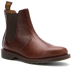$139, Brown Leather Chelsea Boots: Dr. Martens Victor Chelsea Boot. Sold by shoes.com. Click for more info: http://lookastic.com/men/shop_items/234738/redirect