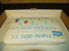 Financial Peace University - Debt Card cake