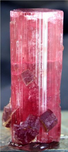 359 Carats Jumbo Size Terminated & Gemmy TOURMALINE Crystal with LAPIDOLITE Mica