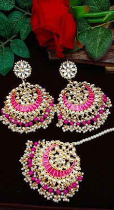 Fancy Jewellery, Fancy Earrings, Indian Jewellery Design, Jewelry Design Earrings, Gold Earrings Designs, Jewelry Shop, Jewelry Accessories, Jewelry Bracelets, Fashion Jewelry