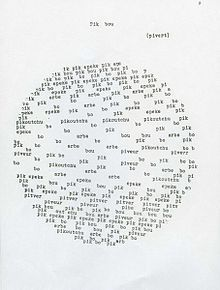 Pierre Garnier's Pik bou (Seiichi Niikuni) Typography Letters, Lettering, Poesia Visual, Ascii Art, Where Is My Mind, Sound Art, Fluxus, Types Of Art, Book Design
